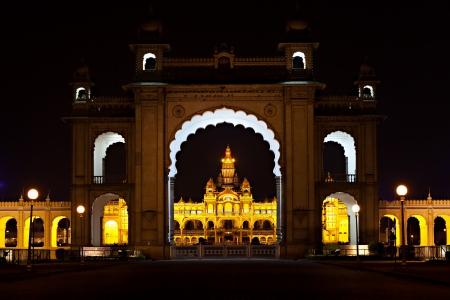 Mysore palace at night, Mysore, India Stock Photo - 15547301