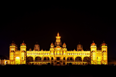 karnataka: Palacio de Mysore, Mysore, estado de Karnataka, India