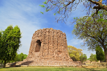 conceived: The uncompleted Alai Minar was conceived to be double the height of the Qutab Minar