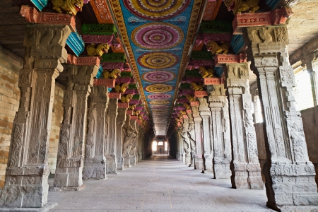 Inside of Meenakshi hindu temple in Madurai, Tamil Nadu, South India Stock Photo - 15547315