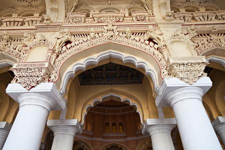 Arches of Thirumalai Palace, Tamil Nadu, India Stock Photo - 15547310
