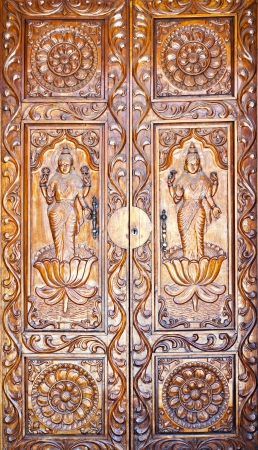 Ornate doors in indian style photo