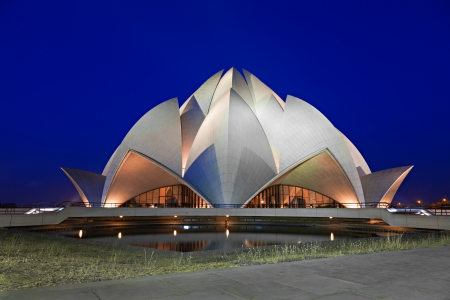 Lotus Temple at the evening, New Delhi, India
