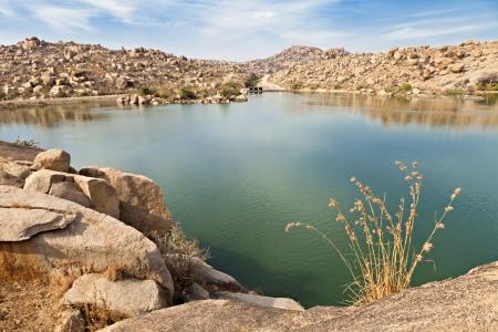 Beauty lake in Hampi, Karnataka, India Stock Photo - 15603620