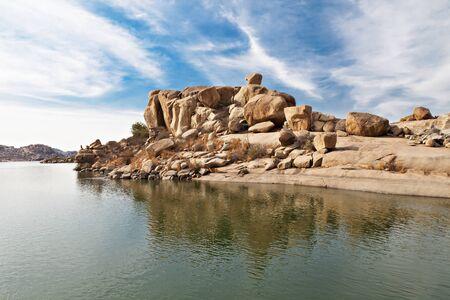 karnataka: Belleza lago en Hampi, Karnataka, India Foto de archivo