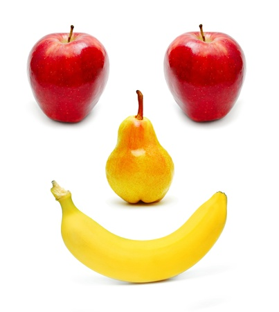 Fruits set as a smiling face Stock Photo - 17855991