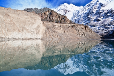highlands region: Gangapurna lake, Annapurna area, Himalaya, Nepal
