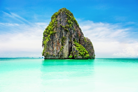 ao: Beaty limestone rock in the ocean Stock Photo