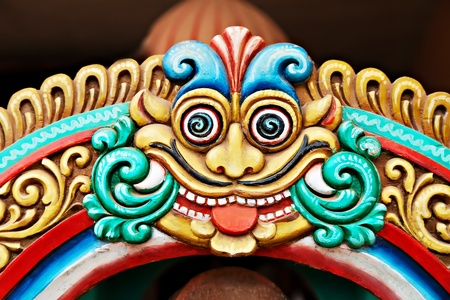Hindu face on the temple Stock Photo - 17856106