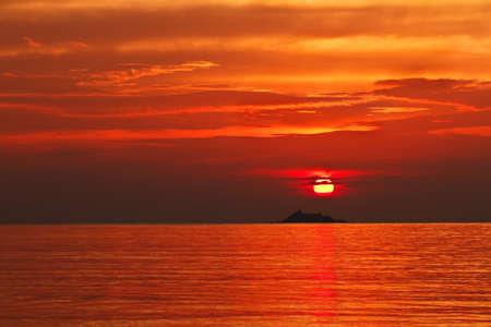 Sunset at the Ko Phangan island, Thailand Imagens