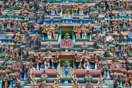 Relief of Menakshi Temple, Madurai, Tamil Nadu, India photo