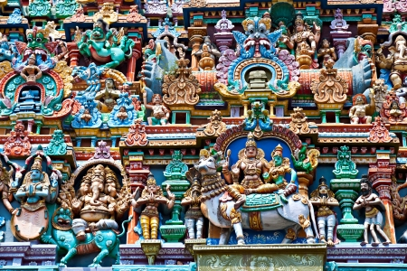 Relief of Menakshi Temple, Madurai, Tamil Nadu, India photo