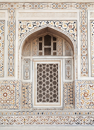 widely: AGRA, INDIA - APRIL 09: Pattern on Taj Mahal on April 09, 2012 in Agra, India. Taj Mahal is widely recognized as the jewel of Muslim art and one of the universally masterpieces of the world