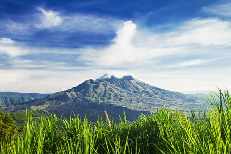 Mount Batur at morning, Bali photo