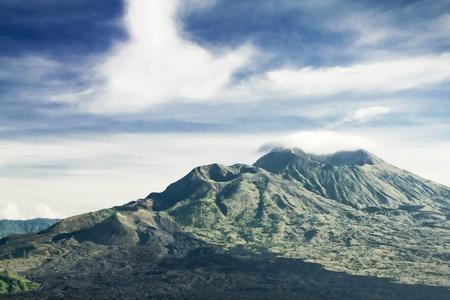 Mount Batur at morning, Bali photo