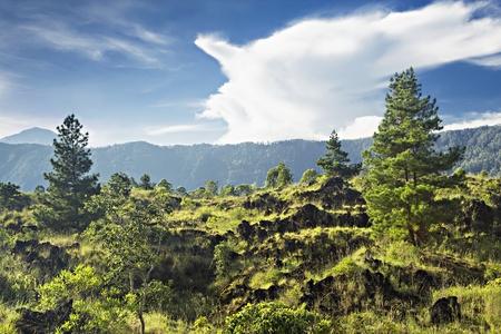 clinker: Clinker a terra vicino vulcano Batur Archivio Fotografico