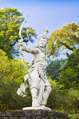 Archer Arjuna statue on Bali