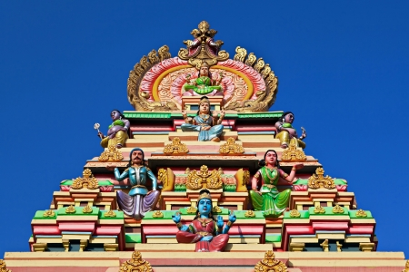 Facade of the hindu temple, south India photo