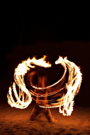 carny: Fire show at the beach, Goa
