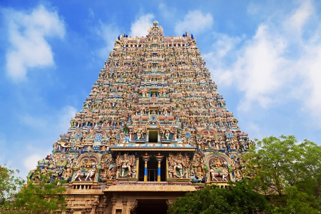 Menakshi Temple, Madurai, Tamil Nadu, India photo