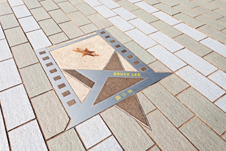 HONG KONG, CHINA - FEBRUARY 21: Bruce Lee star at the Avenue of Stars on February, 21, 2013, Hong Kong, China.