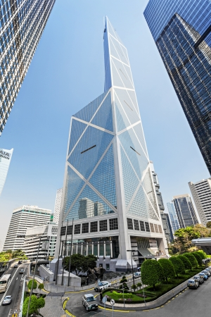 HONG KONG - FEBRUARY 22: Bank of China tower on February 22, 2011 in Hong Kong. 367 meters BOC one of the tallest in Hong Kong seen as violation of feng shui principles to locals