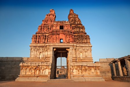 Vittala temple at the sunrise, Hampi, India photo