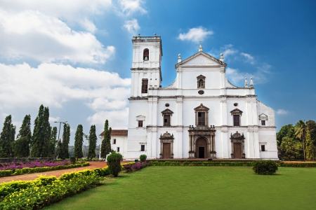Se cathedral in Old Goa, Goa state, India photo