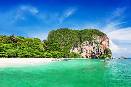 ao: Very beautiful beach with clear water, Thailand