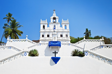 goa: Our Lady of the Immaculate Conception Church, Goa, India Stock Photo