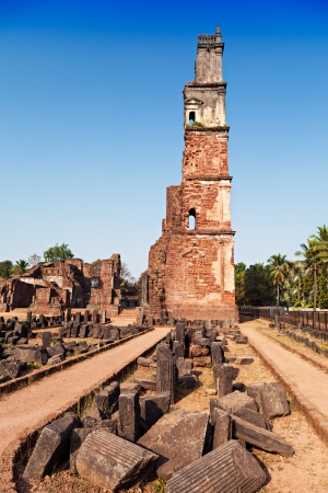augustine: Augustine ruins in Old Goa, Goa state, India Stock Photo