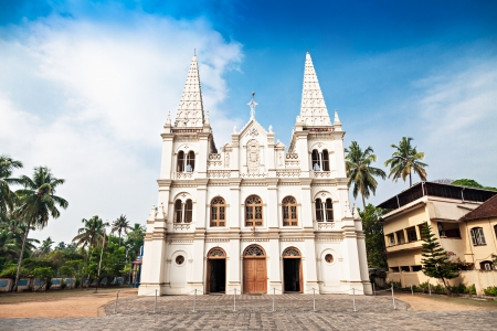 fortress: Santa Cruz Basilica in Cochin, Kerala, India Stock Photo