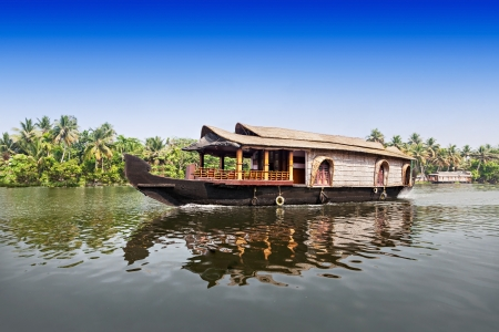alappuzha: Beauty boat in the backwaters, Kerala, India