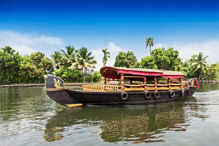 alappuzha: Beauty boat in the backwaters, Kerala, India