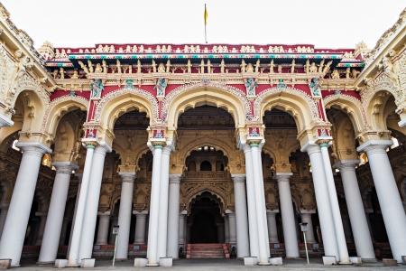 Thirumalai Nayak Palace in Madurai city, India photo