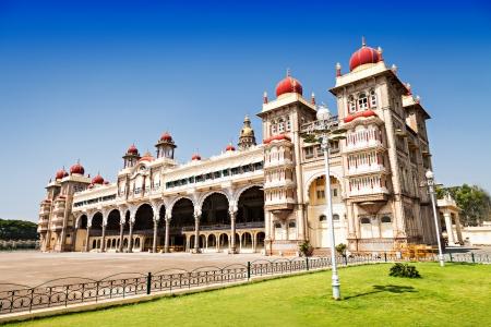 tudor: Amba Vilas Mysore Palace in Mysore, India Stock Photo