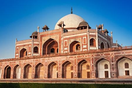 Humayuns Tomb on blue sky, New Delhi, India photo