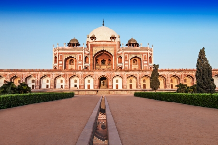 Humayuns Tomb is one of the most popular tourist destination in Delhi, India. photo