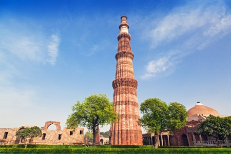 Qutub Minar Tower in New Delhi, India Stock Photo