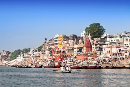 benares: VARANASI, INDIA - APRIL 12: Boats at the river ganges on the auspicious Maha Shivaratri festival on April 12, 2012 at Dasashwamedh ghat in Varanasi, Uttar Pradesh, India