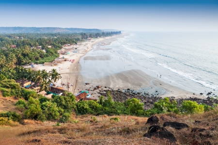 View to Arambol beach from the hill, Goa photo