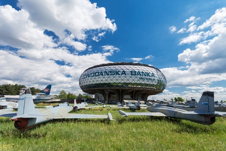 aeronautical: BELGRADE, SERBIA - MAY 14: Museum of Aviation on May, 14, 2013, Belgrade, Serbia. Museum was founded in 1957 as the Yugoslav Aeronautical Museum. Situated near Belgrade Airport.