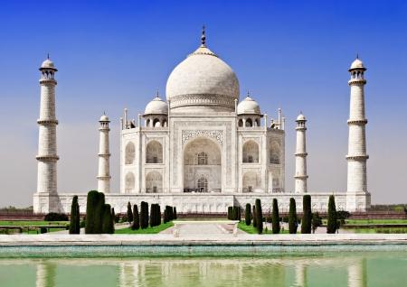 minarets: Taj Mahal, Agra, Uttar Pradesh, India