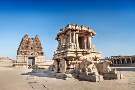 Chat and Vittala temple at Hampi, India Stock Photo - 22100646
