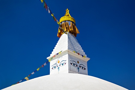 Boudhanath stupa is one of the holiest Buddhist sites in Kathmandu, Nepal. Stock Photo - 22100648