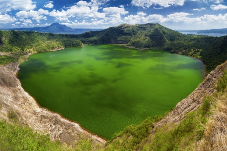 crater lake: Taal - the smallest in the world volcano, Manila, Philippines
