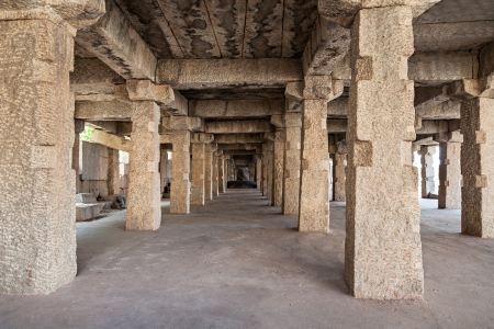 Many ruined columns as a perspective objects Stock Photo - 22100708