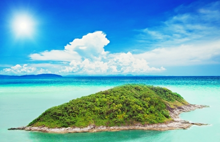 Tropical island in the ocean Stock Photo - 22100806