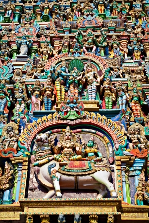 MADURAI, INDIA - MARCH 23: Relief of Meenakshi Temple on March, 23, 2012, Madurai, India. Meenakshi Temple is one of the oldest hindu temple in the world. Stock Photo - 22100863