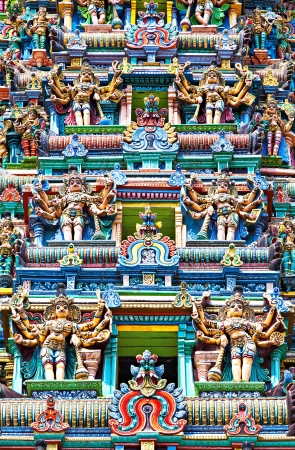Detail of Meenakshi Temple in Madurai, India Stock Photo - 22100905